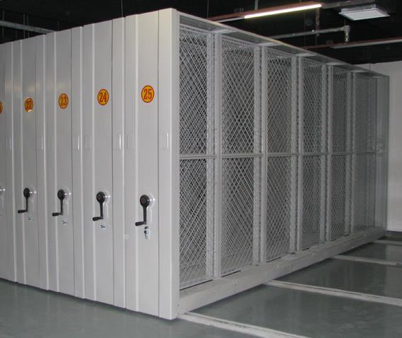 手动油画挂网式密集柜