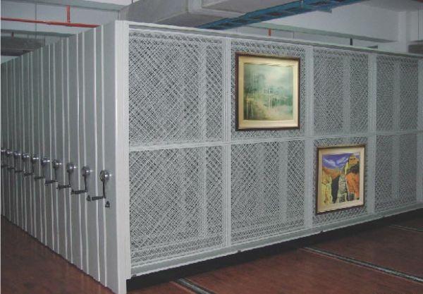 美术馆挂网式密集画架