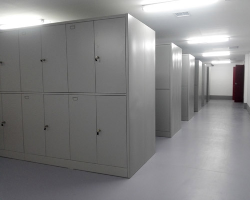 纪念馆文物库房收藏柜