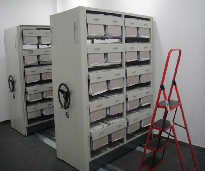 报纸收藏架密集柜